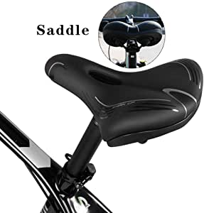 Funihut - Sillín de Bicicleta Grande, cómodo con cojín de Silicona ...