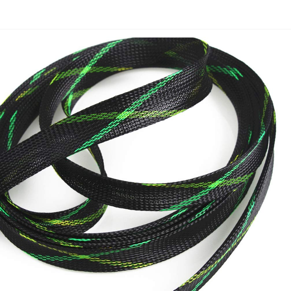 1M Insulation Braided Cable Sleeve Wire Protection Tight PET Nylon Expandable Braided Cable Sleeving 4/6/8/10/12/15/20/25mm