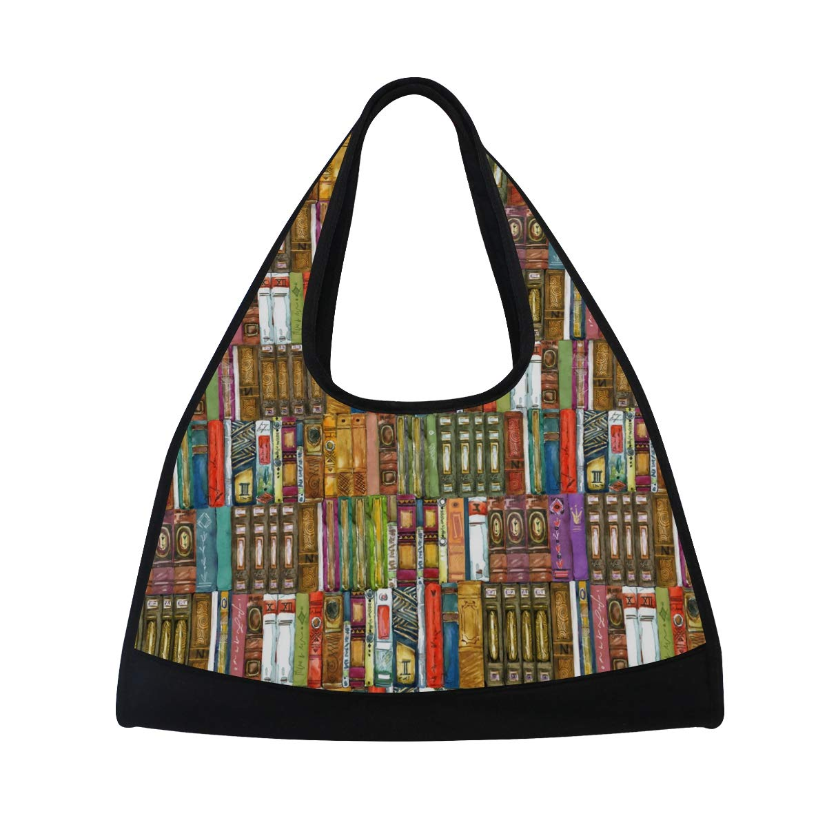 Gym Bag Sports Holdall Book Bookshelf Canvas Shoulder Bag Overnight Travel Bag for Men and Women