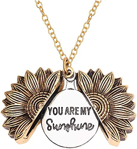 ARTSUN You are My Sunshine Sunflower Necklace for Women Pendant for Girls