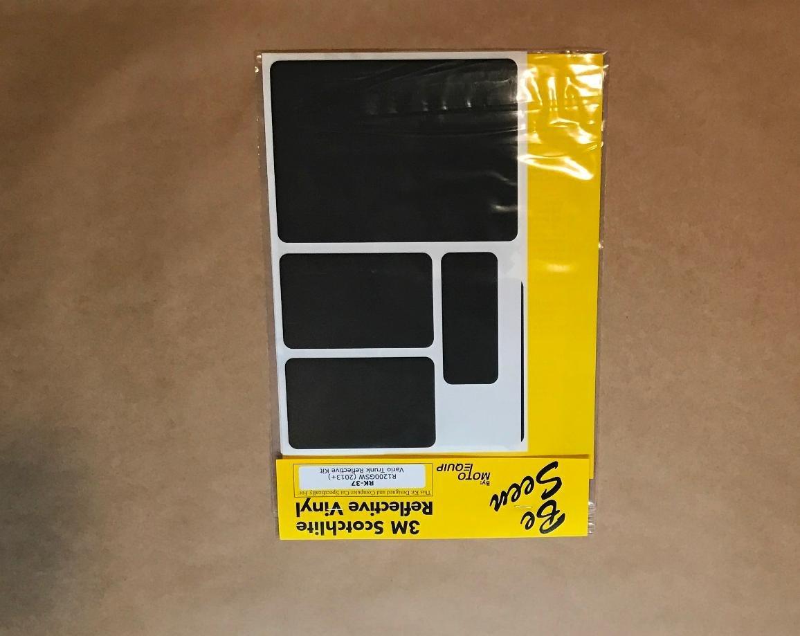BMW R1200GS 2013+ WC Vario Black Trunk Reflective Tape Kit ME RK-37