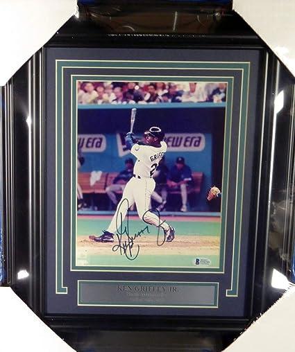 39720b656e3 Ken Griffey Jr. Signed Auto Framed 8x10 Photo Seattle Mariners - Beckett  Certified