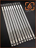 """Snap Strip Stainless Steel Zip Tie 10 Pack 14"""" Long Locking Cable Tie"""