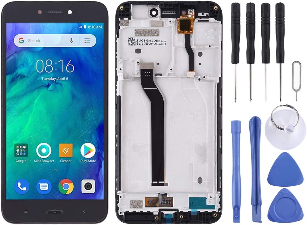 Black Replacement Color : Black XIAOMIN LCD Screen and Digitizer Full Assembly with Frame for Xiaomi Redmi Go