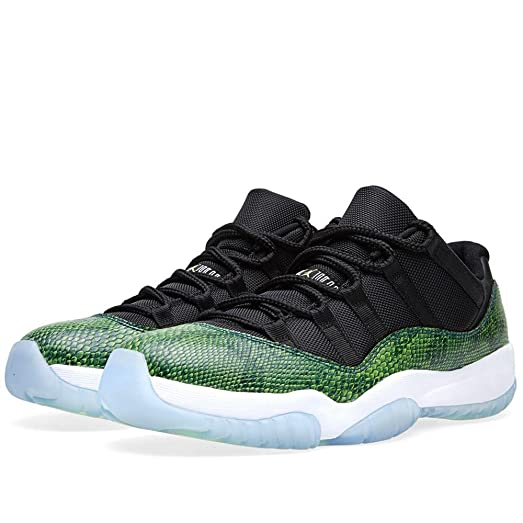 Jordan 11 Retro Low Men's Shoes Black-Nightshade-White-Volt ice 528895-