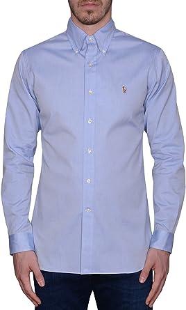 Ralph Lauren - Camisa casual - Manga larga - para hombre azul claro talla del marca 17.5: Amazon.es: Ropa y accesorios