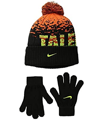 f2359e70bccfb6 Image Unavailable. Image not available for. Color: NIKE Big Boys Attitude Knit  Beanie & Gloves Set Size 8/20