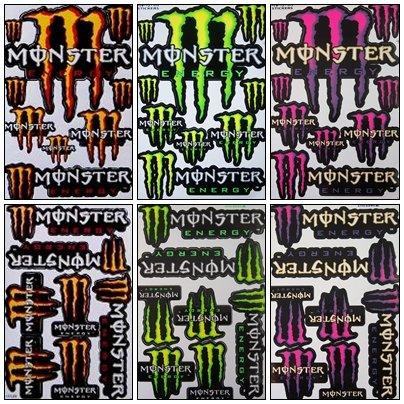 6 Rockstar Energy Drink Metal Mulisha Yamaha Kawasaki ATV Helmet Motorcycle Motocross Decal Racing Sticker