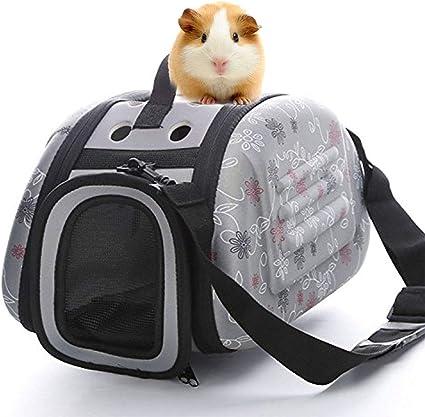 PETAMANIM Transportín para Mascotas, Goma EVA, portátil, Plegable y cómodo, Apto para Viajar en avión, para Gatos, Perros y Otras Mascotas,Gris,35 * 22 * 20cm: Amazon.es: Deportes y aire libre