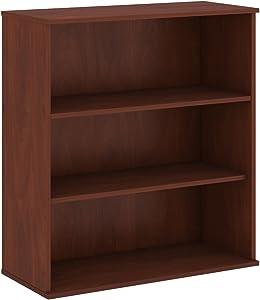 Bush Business Furniture 48H 3 Shelf Bookcase in Hansen Cherry