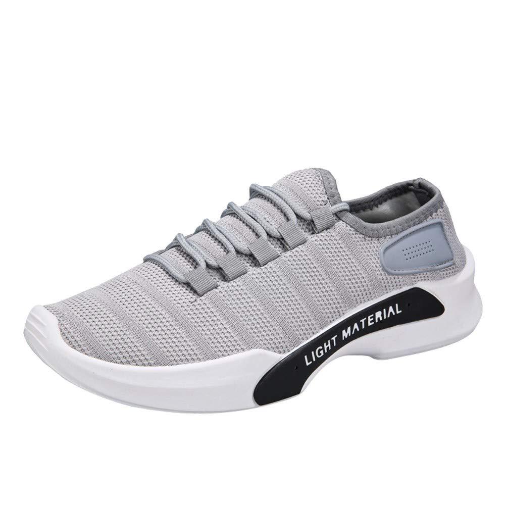 Zapatos de hombre JiaMeng Zapatillas de Deporte para Hombres Atlético Moda Casual Al Aire Libre de Malla con Cordones Redondos con Cordones Zapatillas para ...