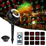 Christmas Projector Light, TGJOR 12 Patterns Red&Green LED Waterproof Indoor&Outdoor lasher Light with RF Wireless Remote Control and Smart IC Protection for Xmas ,Party, Bar and Holiday Decoration
