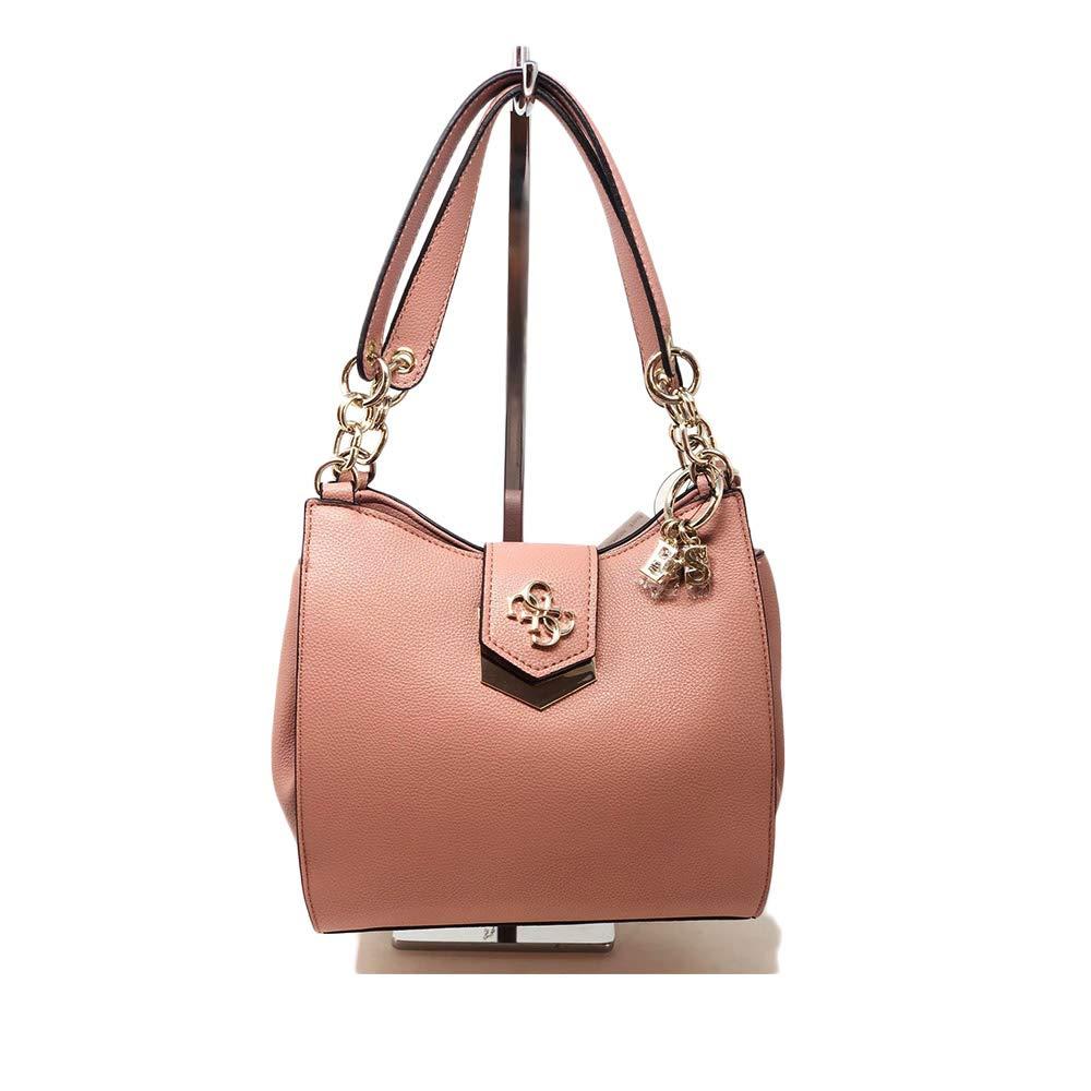 Guess Kelsey Small Shopper Pink in Ecopelle: Amazon.it
