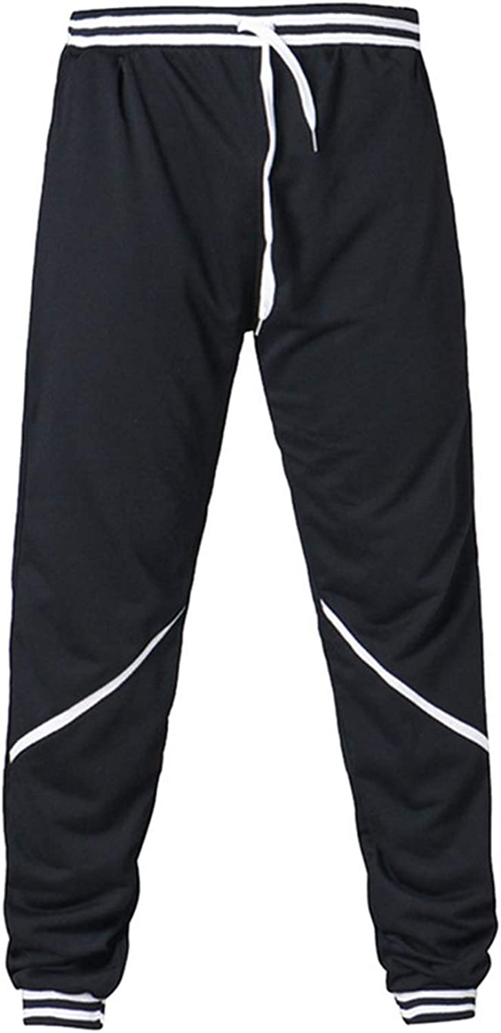 Males Mid Waist Fitness Skinny Pants Printed Basic Section Lightweight Trousers