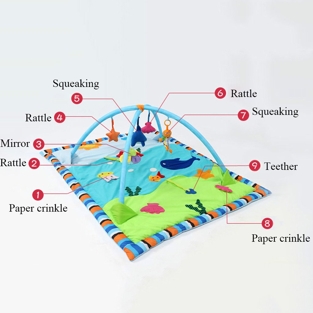 Dovewill Baby Toys Animals Educational Crawling Activity Mat Play Gym Carpet Puzzle Mat - Ocean, as described by Dovewill (Image #4)