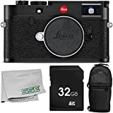 Leica M10 Digital Rangefinder Camera (Black) with 3PC Accessory Bundle – Includes 32GB SD Memory Card + Sling Backpack + Microfiber Cleaning Cloth