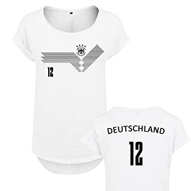 1f817d21721d OwnDesigner Qualitäts Damen WM Shirt Deutschland (405o-36-Weis-L ...