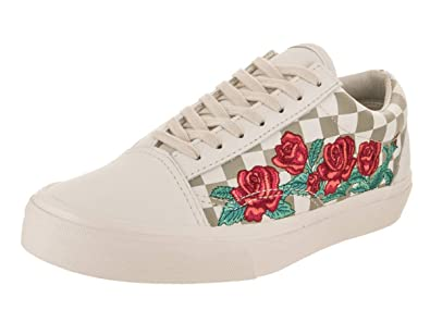 8d19d52654552 Vans Unisex Old Skool DX (Rose Embroidery) Skate Shoe: Amazon.co.uk ...
