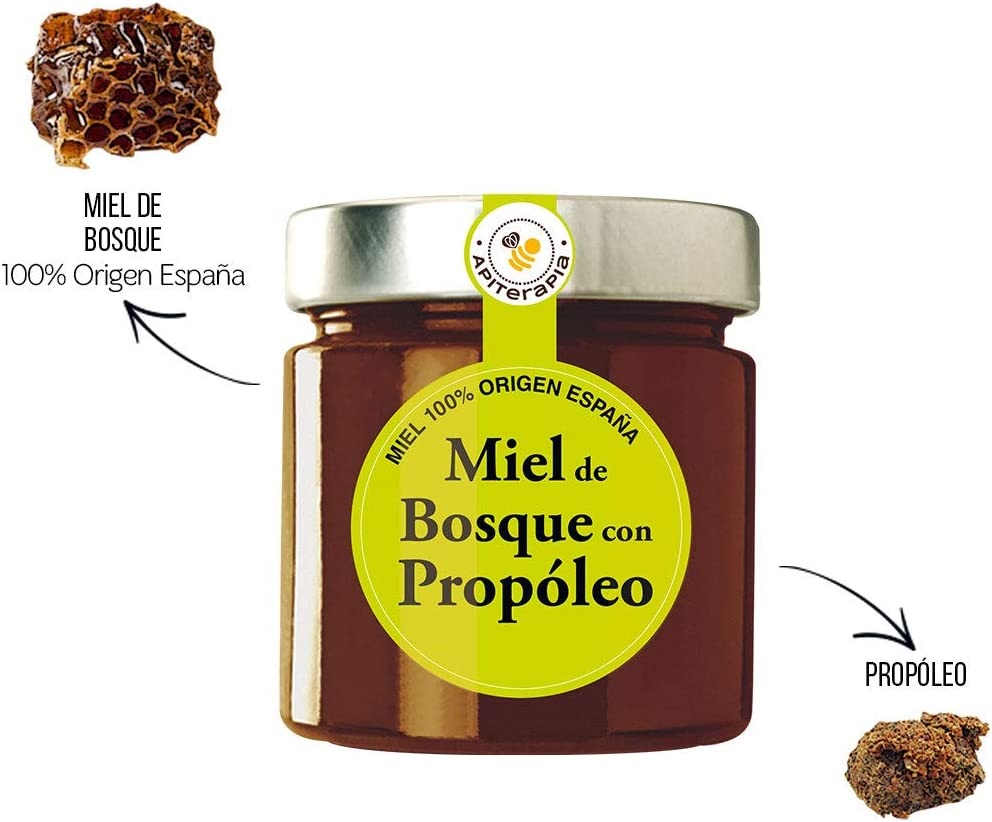 Apiterapia - Miel de Bosque con Propóleo - Miel Origen España - 300 g: Amazon.es: Alimentación y bebidas