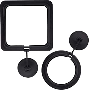 OIIKI 2 Pack Fish Feeding Ring, Aquarium Fish Floating Food Feeder, Square Shape with Suction Cup