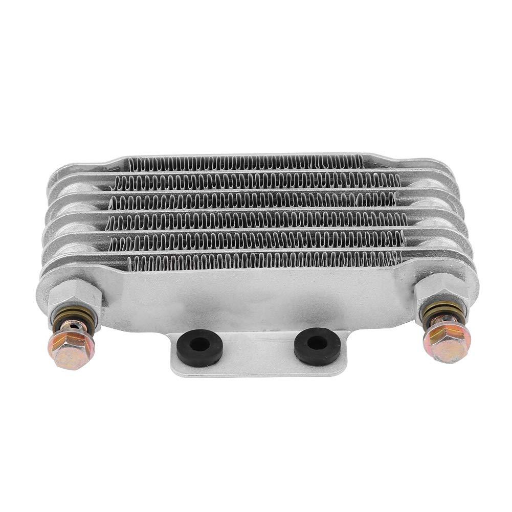 85ml Kit de enfriador de aceite de motor de motocicleta, Kit de sistema de radiador de enfriamiento de aceite para Hon-da GY6 100CC-150CC (Plata): ...