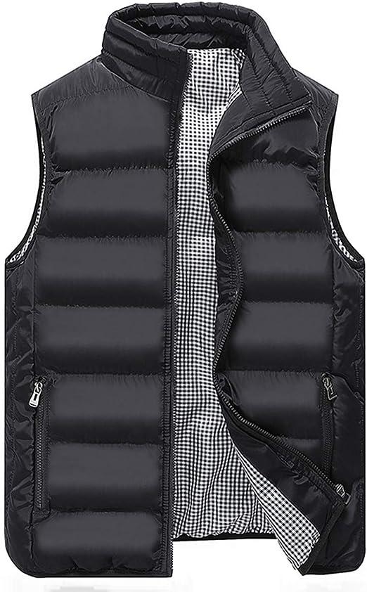 Mens Packable Lightweight Down Vest Winter Down Waistcoat Padded Outdoor Gilets Body Warmers