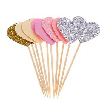 Romantische Kuchendekoration Cupcake Topper Torten Aufsatz Muffin Picker,