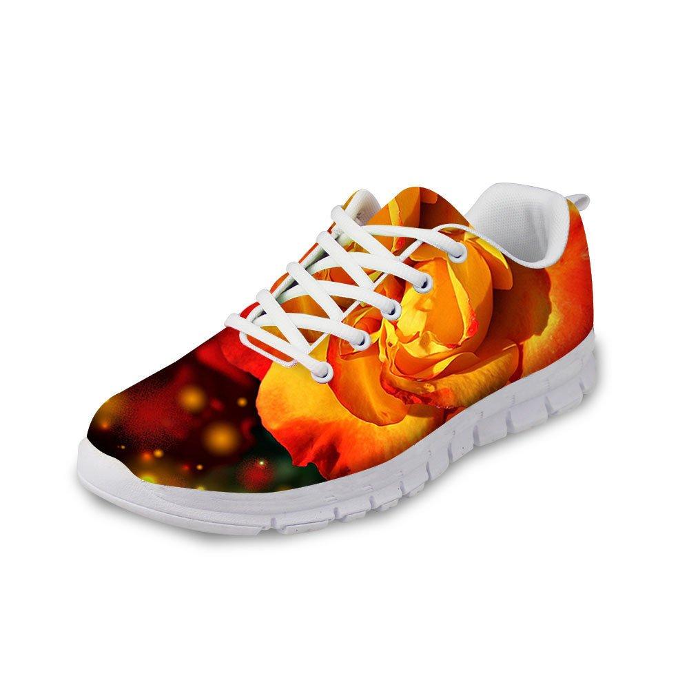 [DUOLIFU] レディース カジュアル B07DL7317W Orange Flower EU45=Men US 12
