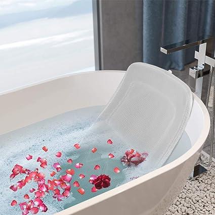 Bathroom Bathtub Mat Full-Body Bath Pillow Mat Head Back Tailbone Support Stable