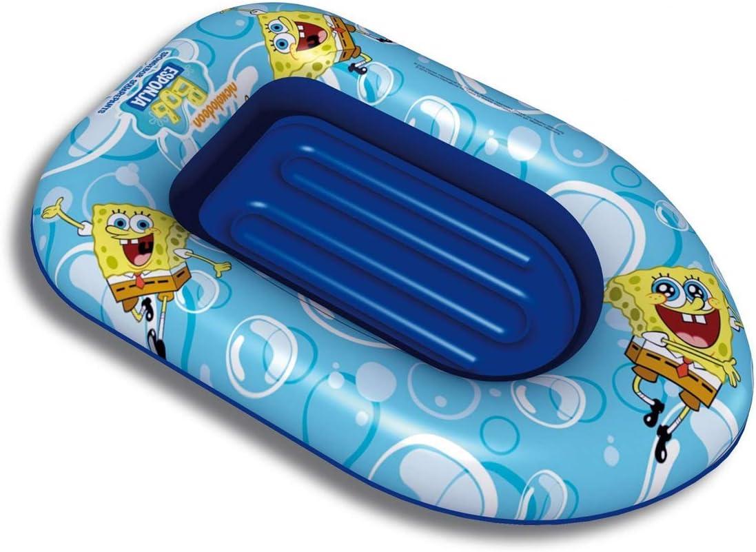 LEMON TREE SL Barca Hinchable Bote para niños y niñas Piscina diseño Bob Esponja. Medidas 115 x 80 cm: Amazon.es: Deportes y aire libre