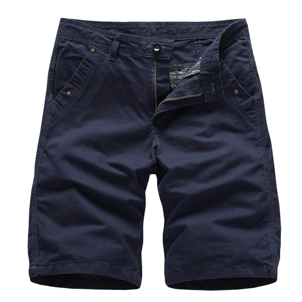 Men's Classic Solid Colors Swim Trunks with Lining by Donci Pants