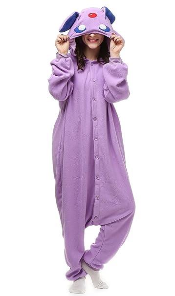 Auspicious beginning Unisex-adulto púrpura Elf traje de Cosplay de los pijamas de dibujos animados