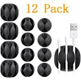 Multipurpose Cable Clips,YOCOU 12 pcs Cable Management System and Cable Organizer Solution for Home and Office