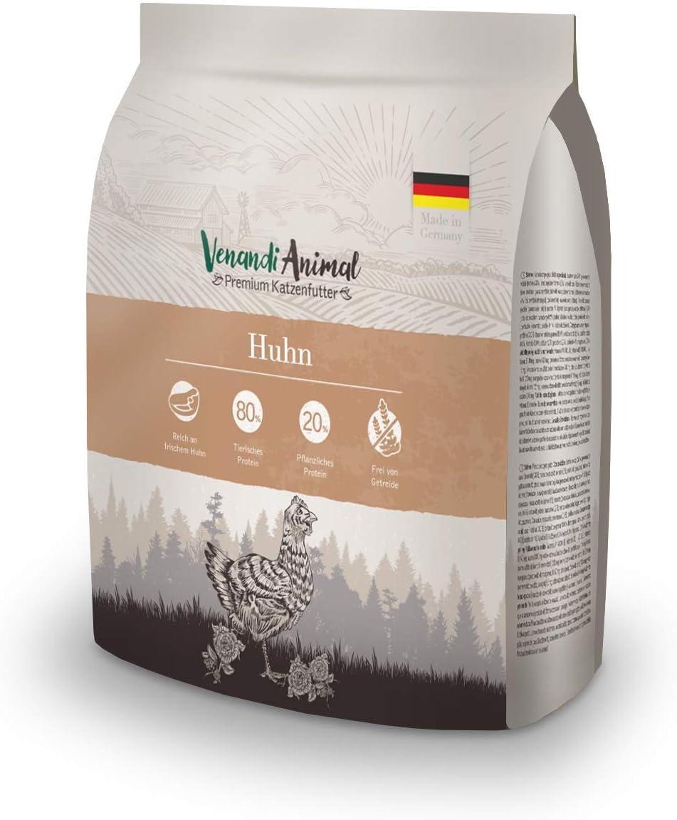 Venandi Animal - pienso seco para Gatos - Pollo como pienso seco - Completamente Libre de Cereales - 300 g