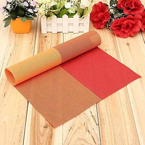 BoatShop Grid PVC Woven Heat Insulation Placemat Table Decor