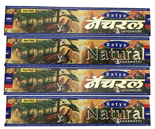 4 Boxes of Natural Satya Incense Sticks