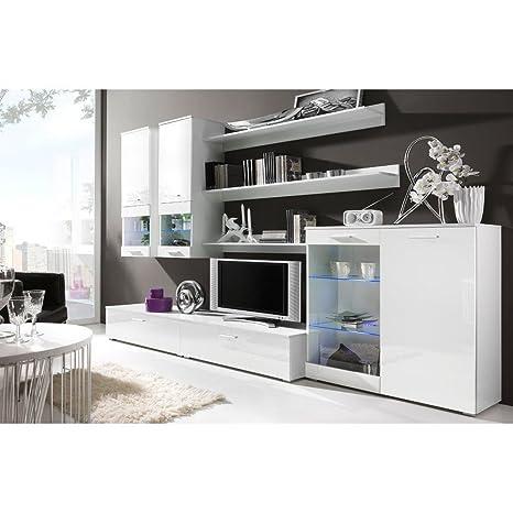 JUSTyou Cami I Muebles de salón Comedor Color: Blanco Mat/Blanco Brillante