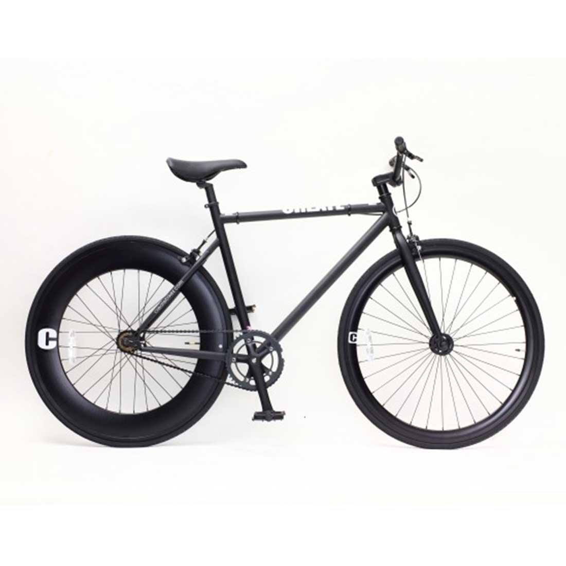 【CREATE BIKES Single-PisteBike】 ストリートピストバイク  湘南鵠沼海岸発信 B0765T6TNG 460mm(160cm~)|ブラック ブラック 460mm(160cm~)