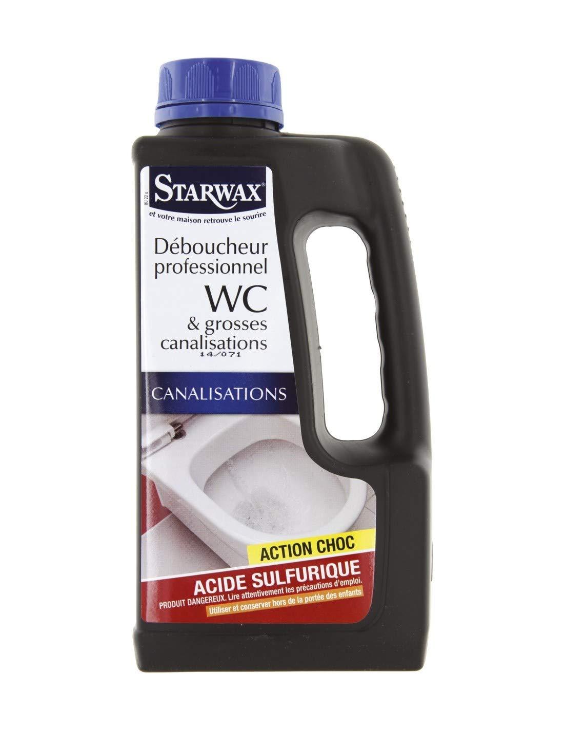 66d7f39ab834 Déboucheur professionnel WC Starwax (bidon de 1l)  Amazon.fr  Bricolage