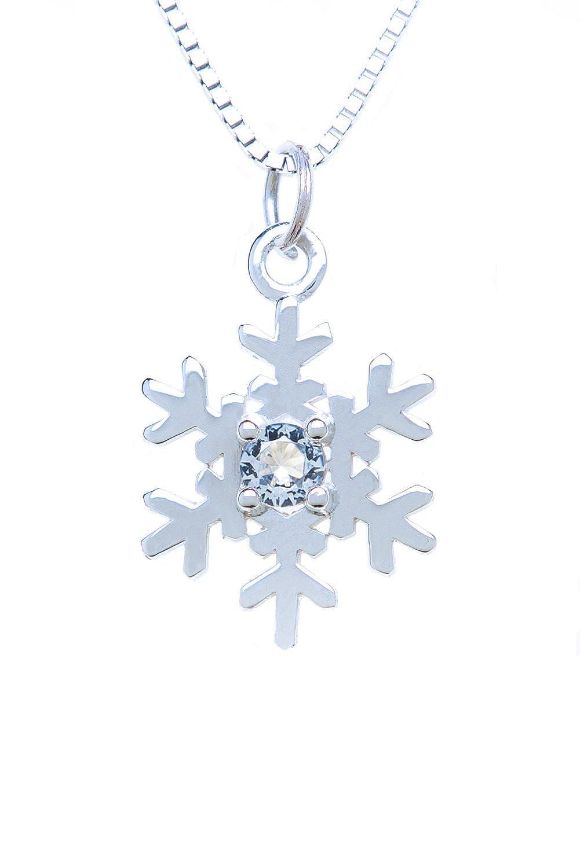 Sterling Silver Pendant Charm Snowflake
