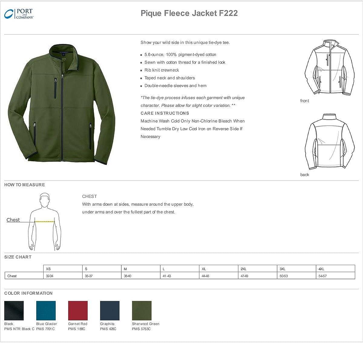 Port Authority Mens Zipper Pique Fleece Drawcord Jacket/_Graphite