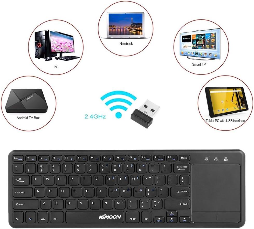 Docooler - Teclado táctil inalámbrico con touchpad Multi-Touch para Android TV Box Notebook Laptop Smart TV: Amazon.es: Electrónica