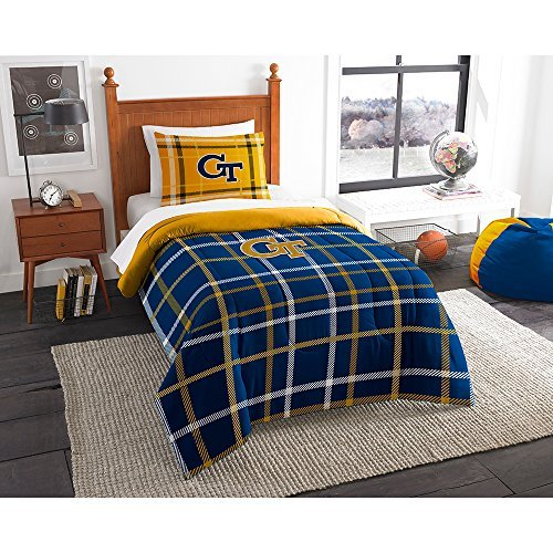 Northwest COL 835 Sham NOR-1COL835000078BBB 64 x 86 Georgia Tech YellowJackets NCAA Twin Comforter Set, Soft & Cozy
