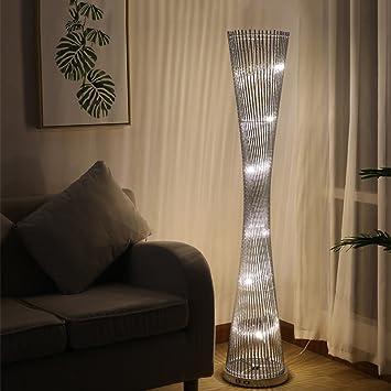 Lámparas de pie Iluminación de interior Lámparas Lámpara de pie rotatoria creativa minimalista moderna nórdica del Nordic, lámpara de pie del florero, lámpara casera elegante de la cabecera de la sala: Amazon.es: