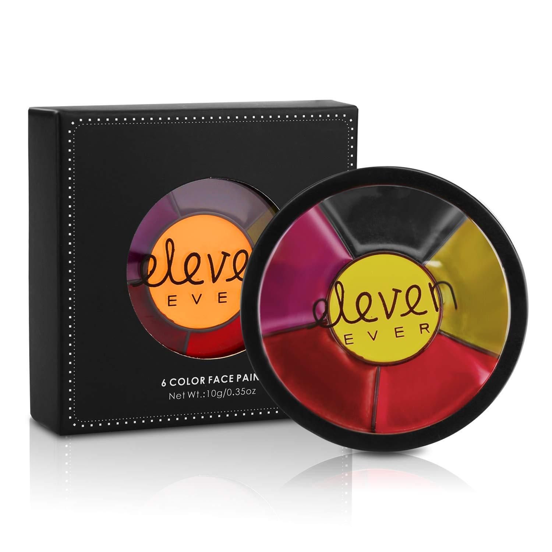 ELEVEN EVER Mini 6 Colors Face Paint Kit Cosplay Paint Kit Water Base Face-Body Paint Set #1