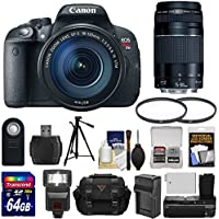 Canon EOS Rebel T5i Digital SLR Camera & EF-S 18-135mm IS STM & 75-300mm III Lens with 64GB Card + Flash + Grip + Battery & Charger + Tripod + Case Kit At A Glance Review Image