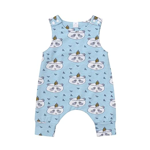 0bc71aea56d3 vestitiy Clearance Cute Newborn Infant Baby Boys Girls Summer Clothes  Cartoon Print Romper Onesies Jumpsuit (