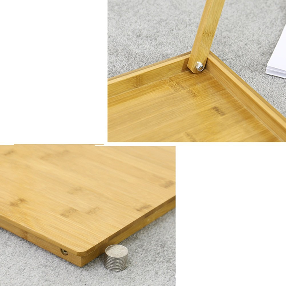 PENGFEI Solid Wood Laptop Stand for Desk Foldable Portable Bed Table College Students Dorm Room Learn Read Solid Wood, 3 Sizes (Color : 70x39x47CM) by PENGFEI-xiaozhuozi (Image #3)