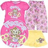 Pink Peace and Love Pajamas for Baby and Toddler Girls