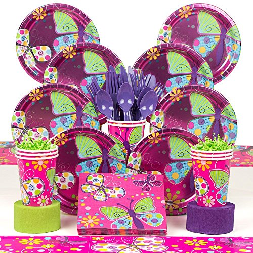 Butterfly Sparkle Deluxe Kit (Serves 8) by Costume SuperCenter
